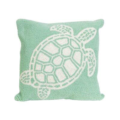 Redwood Turtle Indoor/Outdoor Throw Pillow Color: Green