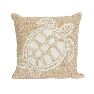 Clayborn Turtle Indoor/Outdoor Throw Pillow Color: Natural