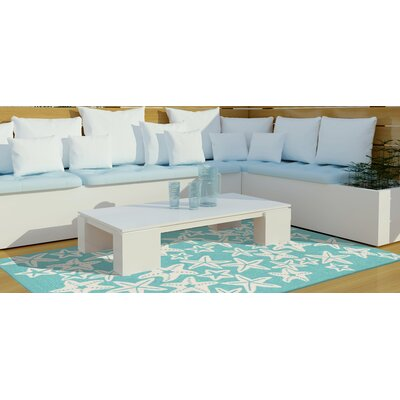 Claycomb Starfish Hand-Tufted Blue Indoor/Outdoor Area Rug