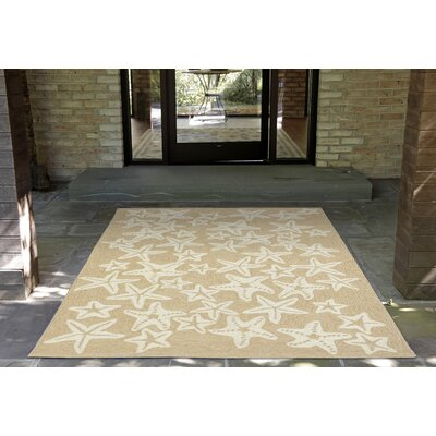 Claycomb Starfish Hand-Tufted Natural Indoor/Outdoor Area Rug