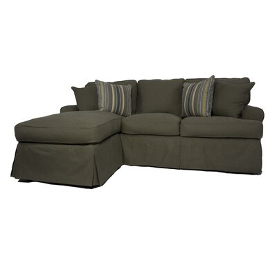 Coral Gables Sleeper Sectional Upholstery: Forest Green