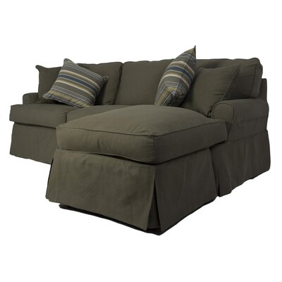 Coral Gables Reversible Sleeper Sectional Upholstery: Forest Green