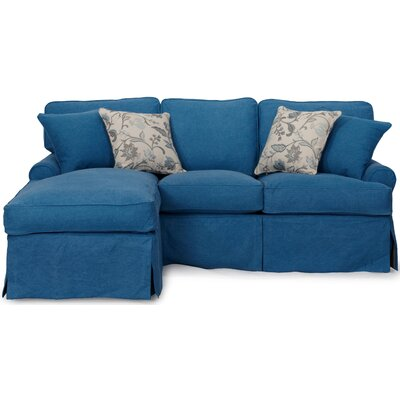 Coral Gables Reversible Sleeper Sectional Upholstery: Indigo Blue