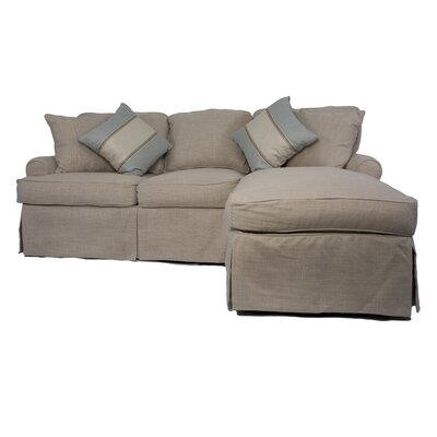 Coral Gables Reversible Sleeper Sectional Upholstery: Linen