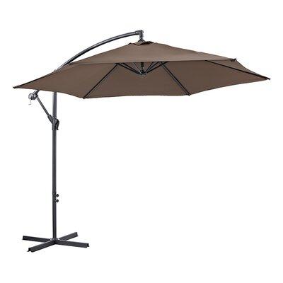 Attleboro 10 Patio Cantilever Umbrella Fabric: Brown