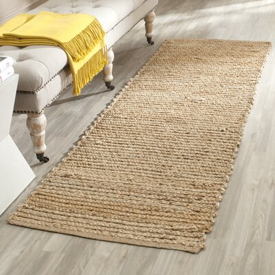 Gilchrist Hand-Woven Beige Area Rug Rug Size: Runner 23 x 16