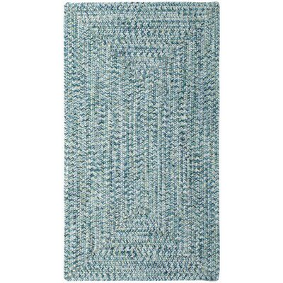 Lemon Grove Ocean Blue Outdoor Area Rug Rug Size: Concentric Square 3
