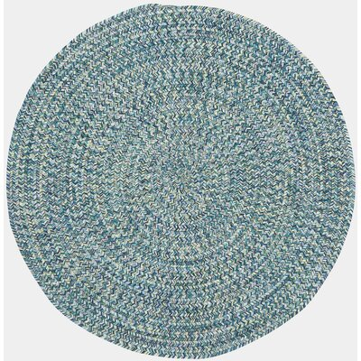 Lemon Grove Ocean Blue Outdoor Area Rug Rug Size: Round 3