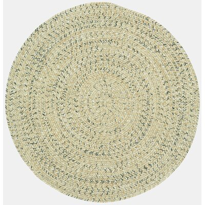 Lemon Grove Sandy Beach Variegated Outdoor Area Rug Rug Size: Round 3