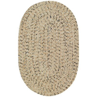 Lemon Grove Sandy Beach Variegated Outdoor Area Rug Rug Size: Oval 92 x 132