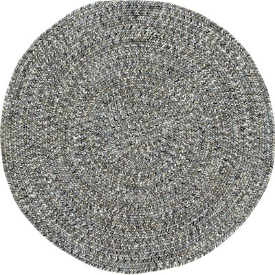 Lemon Grove Smoke Variegated Outdoor Area Rug Rug Size: Round 3
