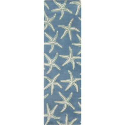 Westport Hand-Tufted Denim/Khaki Area Rug Rug Size: Runner 26 x 8