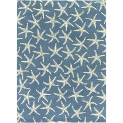 Clare Hand-Tufted Denim/Khaki Area Rug Rug Size: Rectangle 8 x 11