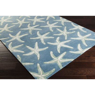 Clare Hand-Tufted Denim/Khaki Area Rug Rug Size: Rectangle 5 x 8