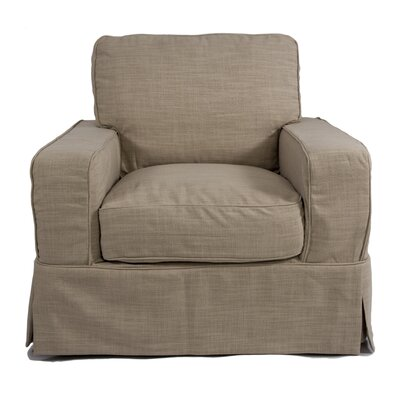 Glenhill Box Cushion Armchair Slipcover
