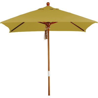 6 Overmoor Square Market Umbrella Fabric: Sunbrella A Brass
