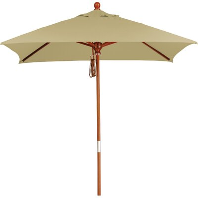 6' Overmoor Square Market Umbrella Fabric: Sunbrella-Heather Beige