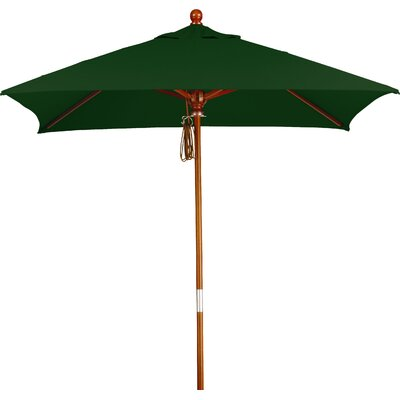 6 Overmoor Square Market Umbrella Fabric: Sunbrella A Forest Green