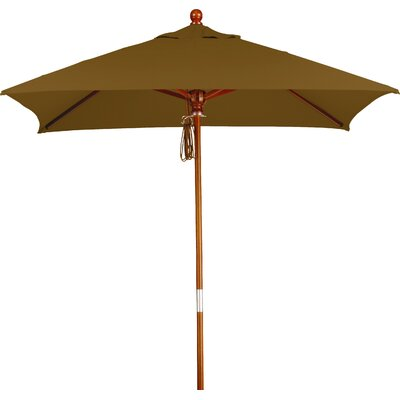 6 Overmoor Square Market Umbrella Fabric: Sunbrella A Cork