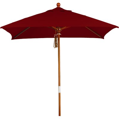 6 Overmoor Square Market Umbrella Fabric: Sunbrella AA Terracotta
