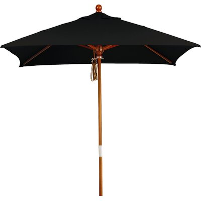 6 Overmoor Square Market Umbrella Fabric: Sunbrella A Black