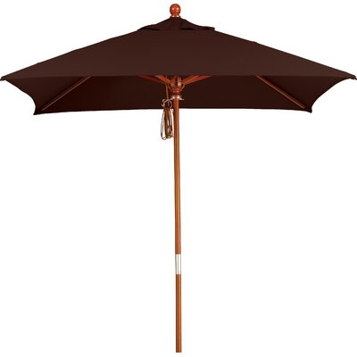 6 Overmoor Square Market Umbrella Fabric: Sunbrella-Bay Brown