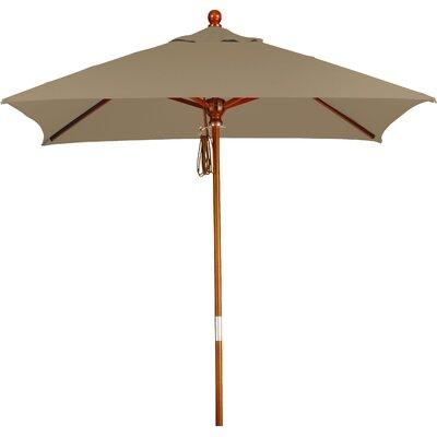 6 Overmoor Square Market Umbrella Fabric: Sunbrella AA Sesame Linen