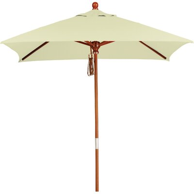 6 Overmoor Square Market Umbrella Fabric: Sunbrella-Natural