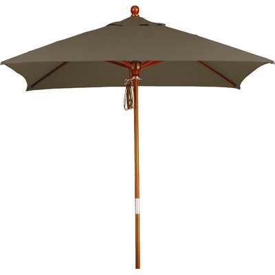 6' Overmoor Square Market Umbrella Fabric: Sunbrella A Cocoa