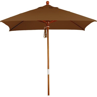 6 Overmoor Square Market Umbrella Fabric: Sunbrella A Canvas Teak