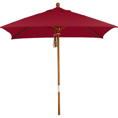 6 Overmoor Square Market Umbrella Fabric: Sunbrella AA Jockey Red