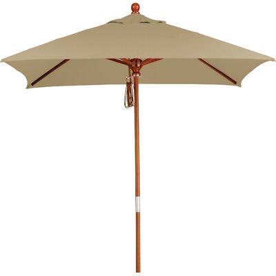 6 Overmoor Square Market Umbrella Fabric: Sunbrella-Camel