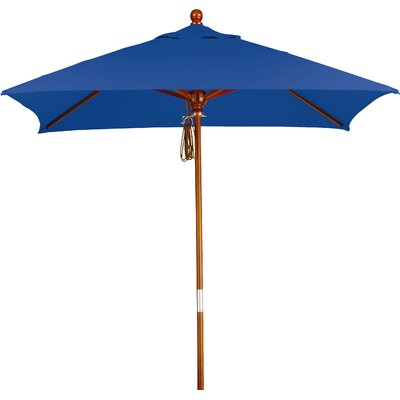 6 Overmoor Square Market Umbrella Fabric: Sunbrella A Pacific Blue