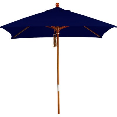 6' Overmoor Square Market Umbrella Fabric: Sunbrella A Navy