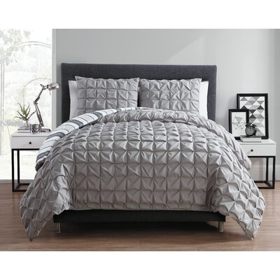 Fellsmere Reversible Duvet Set Color: Gray, Size: TwinXL