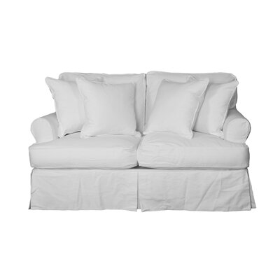 Coral Gables Cotton Loveseat Slipcover
