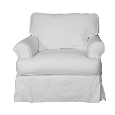 Coral Gables Cotton Armchair Slipcover