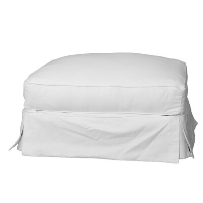 Miami Gardens Cotton Ottoman Slipcover