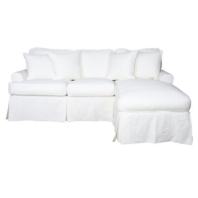 Coral Gables T-Cushion Sofa Slipcover Set