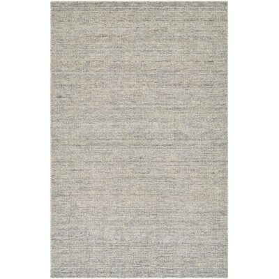 Afton Hand-Loomed Gray/Silver Area Rug Rug Size: Rectangle 53 x 76