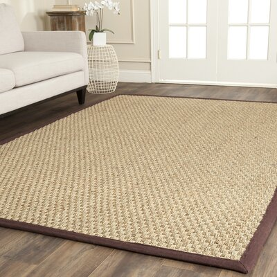 Richmond Natural / Dark Brown Indoor Area Rug Rug Size: Rectangle 4 x 6