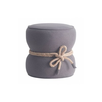 Jones Solid Ottoman Upholstery: Gray