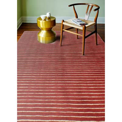 Grayville Hand Woven Wool Red Area Rug Rug Size: Rectangle 86 x 116