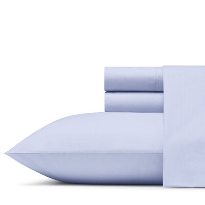 Mount Plymouth 200 Thread Count 100% Cotton Percale Sheet Set Size: Twin XL, Color: Sterling Blue