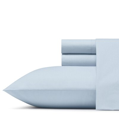 Velda 200 Thread Count 100% Cotton Percale Sheet Set Size: Full, Color: Zen Blue