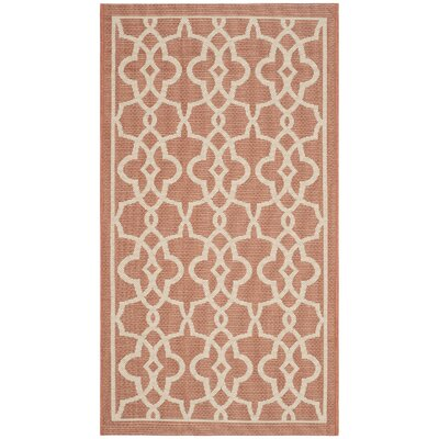 Romola Terracotta/Beige Rug Rug Size: Rectangle 27 x 5