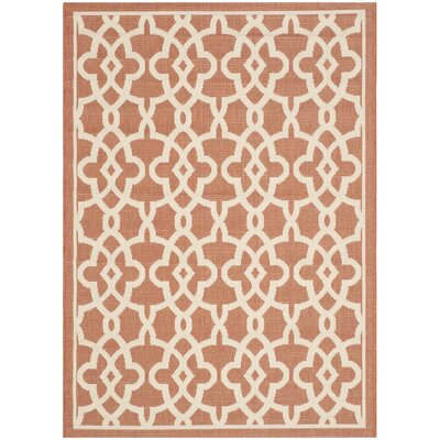 Romola Terracotta/Beige Rug Rug Size: Rectangle 67 x 96