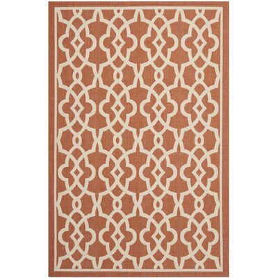 Romola Terracotta/Beige Rug Rug Size: Rectangle 2 x 37
