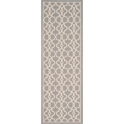 Ceri Grey/Beige Rug Rug Size: Rectangle 27 x 5