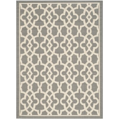 Ceri Grey/Beige Rug Rug Size: Rectangle 67 x 96